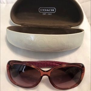 Coach burgundy sunglasses